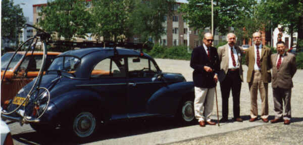 Morris Minor on Dutch visit