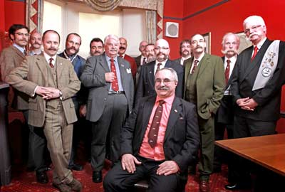 Handlebar Club members at the 2011 AGM in York