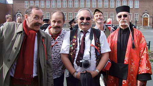 Some of the Handlebar Club members in the Norwegian National Day Parade