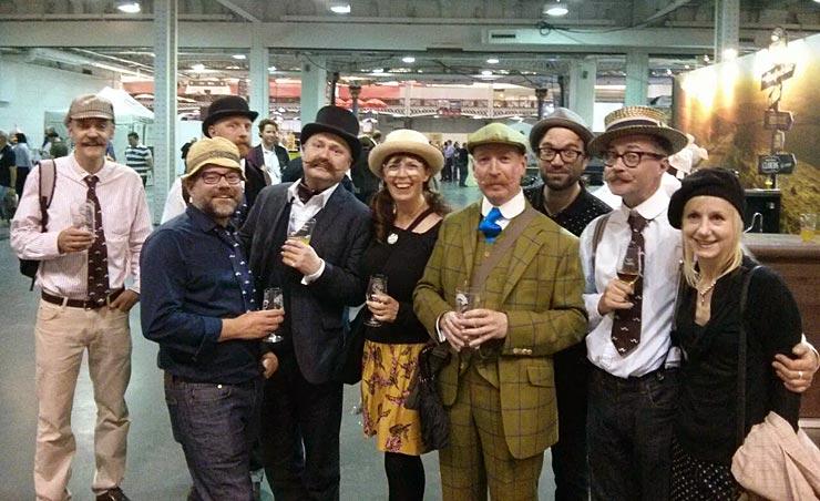 The Handlebar Club's annual visit to the Great British Beer Festival at Olympia, London on 14th August 2014
