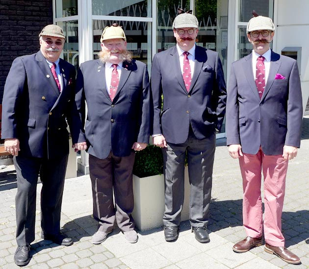 The Handlebar and Deerstalker Club arrive in Antwerp