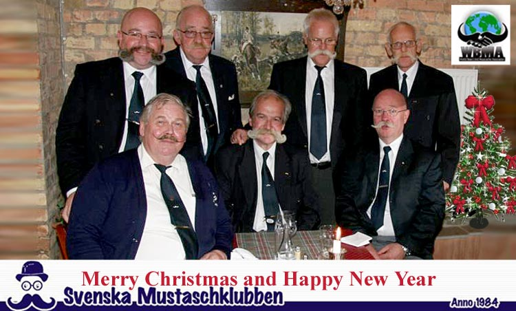 A 2016-17 Christmas card from Svenska Mustaschklubben, Hans Hamrin and the WBMA