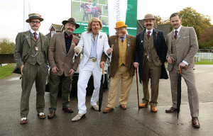 Handlebar Club Members with a Keith Lemon look-alike at Gentlemen's Day for Movember