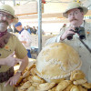 Allan Robinson and Ryan Pike at the World Pasty Championships in Cornwall